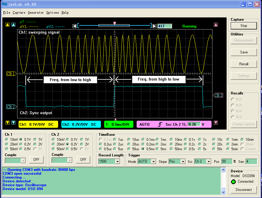 Function Generator For Windows : Jye tech diy oscilloscopes kits for hobbyists