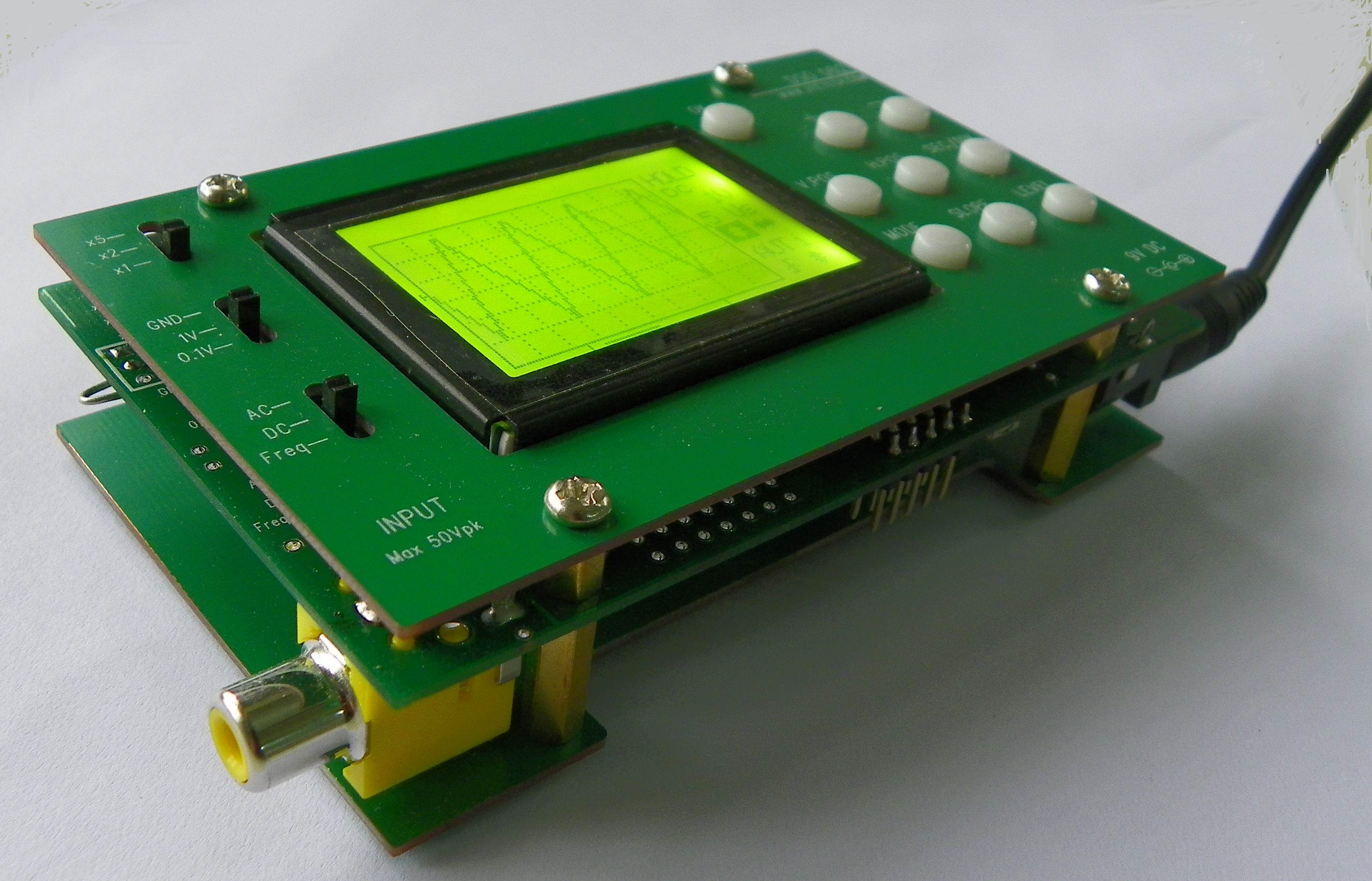 Jye Tech Diy Oscilloscopes Kits For Hobbyists Circuit Beginners Side View